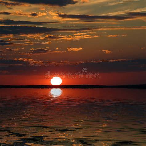 bay exterminating sunset   sun stock photo