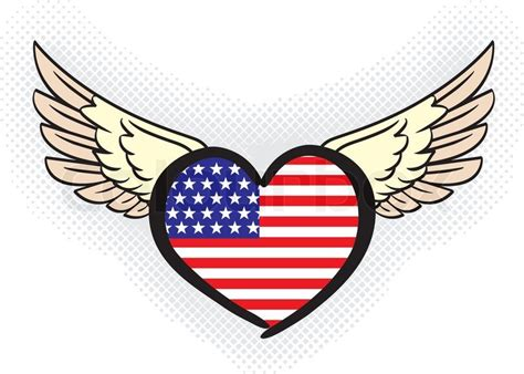 Usa Flag (united States Of America) In Heart Shape