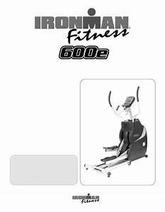 Download Ironman Fitness Elliptical Trainer 600e Manual