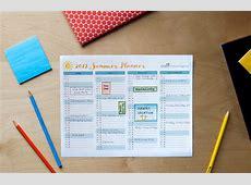 Printable Calendar Designed for Families