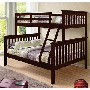 Donco, Kids, Twin, Over, Full, Mission, Bunk, Bed