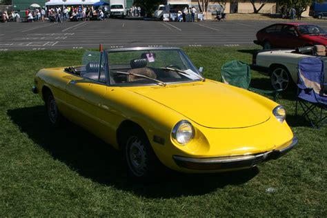 Alfa Romeo Spider Classic Cars Convertible Jaune Yellow