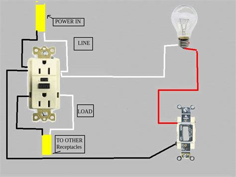 A Light Wiring Diagram For Gfi by Gfci Problem