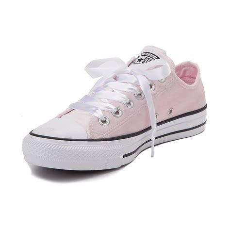 light pink converse converse chuck all lo velvet sneaker pink