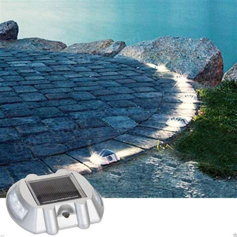 solar driveway lights solar power white 6led road driveway pathway stair lights