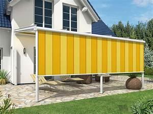 Balkon Windschutz Durchsichtig : pergolaverschattung horizontal und senkrecht wetterschutzrollos ~ Markanthonyermac.com Haus und Dekorationen