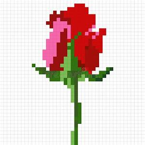 6 grid graph paper pixel rose stock vector image of beauty grid design