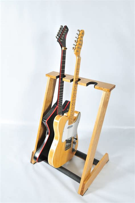 handcrafted wooden guitar stand  allwood stands display