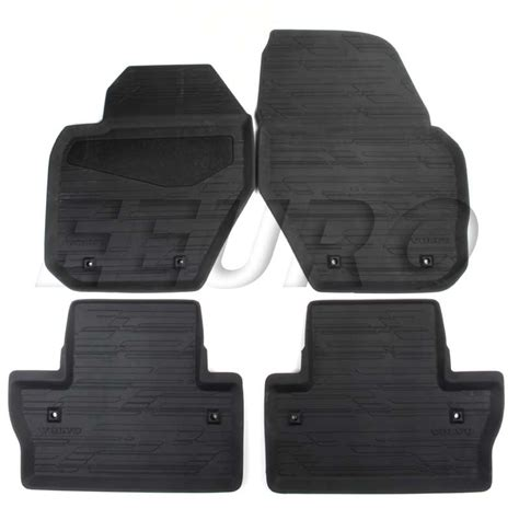 volvo floor mats 39828878 genuine volvo floor mat set all weather