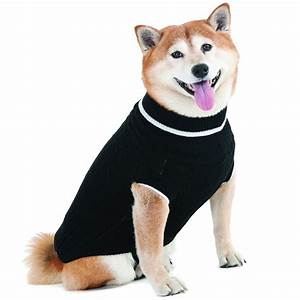 Fashion Pet Fashion Pet Black Cable Knit Sweater Dog Sweaters