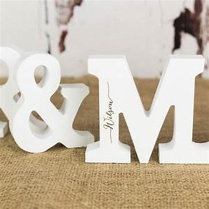 personalised mr and mrs letters in white by rocket and fox With personalised mr and mrs letters
