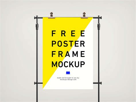 Including multiple different psd mockup templates like cardboard box, cosmetics, coffee cup/mug, shopping bag, car and van mockups. Free Frame Poster Mockup (PSD)