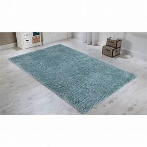 tapis shaggy uni couleur bleu pastel fait main pour salon With tapis de couleur