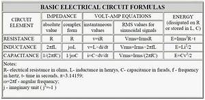 Basic Electrical Circuit Formulas