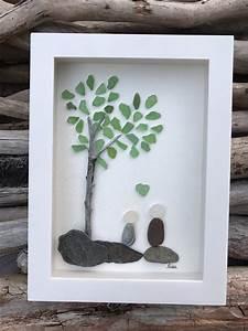 original, sea, glass, art, by, lieu, , pebble, art, , driftwood, art, , beach, home, decor, , family, , love