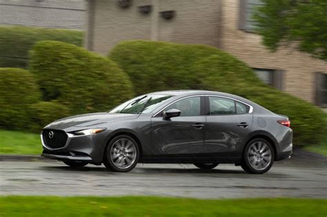 The mazda3 (known as the mazda axela in japan (first three generations), a combination of accelerate and excellent) is a compact car manufactured in japan by mazda. 2019 Mazda3 Sedan Is All Grown Up, But Still Fun To Drive