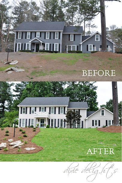 Exterior Curb Appeal {before & After}  Dixie Delights