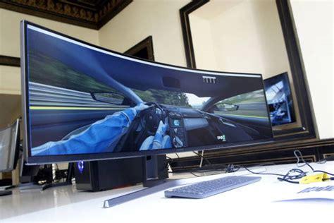pc de bureau tout en un on a essayé l 39 incroyable écran gaming 49 pouces incurvé de