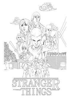 stranger  coloring pages eleven