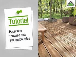 comment poser une terrasse en bois sur lambourdes leroy With comment poser une terrasse en bois