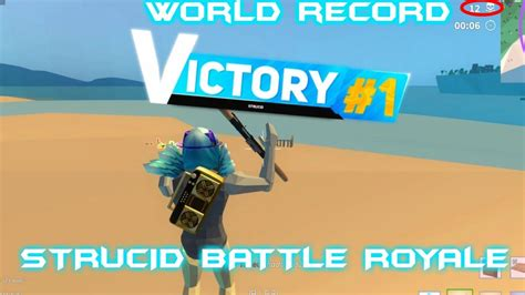 strucid battle royaleworld record  killsroblox youtube