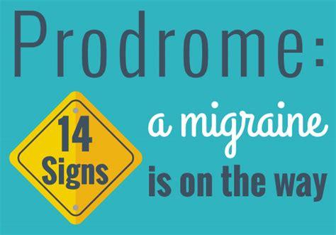prodrome symptoms nervous system disorders