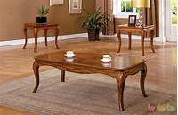 oak accent tables Palm Coast Antique Oak Accent Tables with Curved Apron and ...