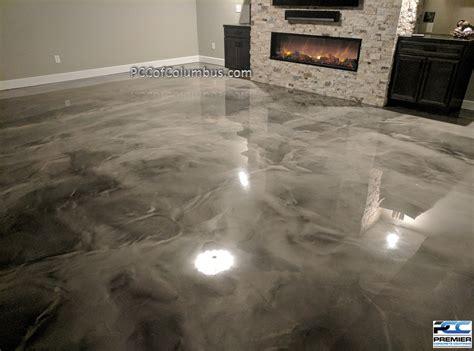 Metallic Epoxy Flooring Pcc Columbus Ohio