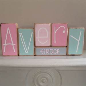 baby name blocks custom baby gift With letter blocks for baby name