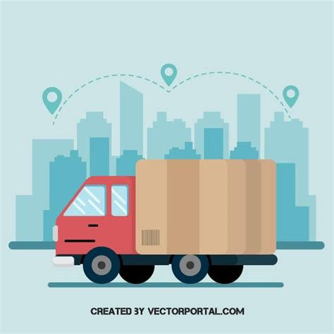 shipping truck vector graphics