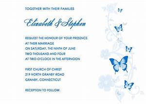 butterfly invitation template invitation template With blue butterfly wedding invitations templates