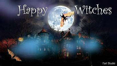 Windows Witches Happy Screensaver Screensavers Halloween Animated