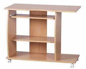 Design Pc Tisch : design computertisch wei mit rollen 90 cm schreibtisch pc tisch buche neu ebay ~ Frokenaadalensverden.com Haus und Dekorationen