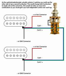 Double Humbucker Coil Tap Push  Pull