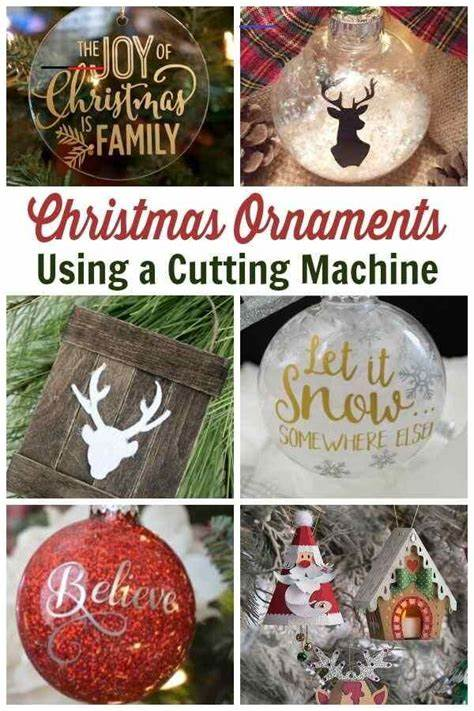 How to make christmas ornaments with a cricut? Cricut Christmas Ornament Projects - Holiday Crafting Fun ...