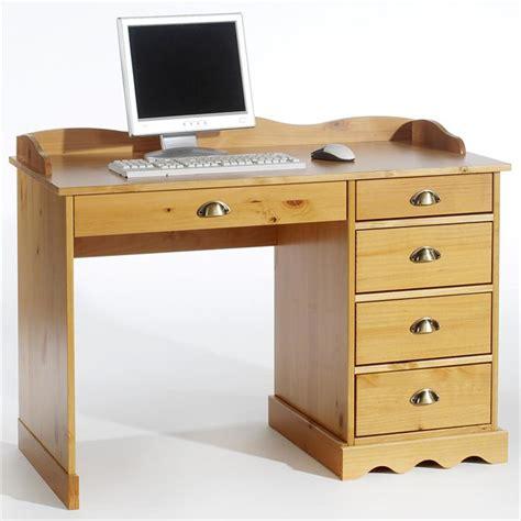 bureau en pin massif colette avec corniche couleur miel