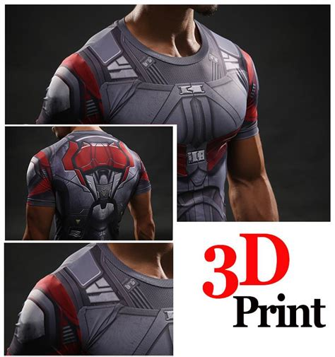 marvel falcon avenger fighter compression  short sleeves  shirt superheroes gears