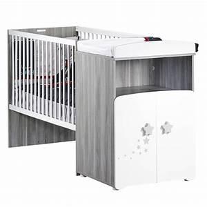 Lit Bébé Combiné : lit b b combin volutif 60x120cm en 90x190cm nao de baby price sur allob b ~ Teatrodelosmanantiales.com Idées de Décoration