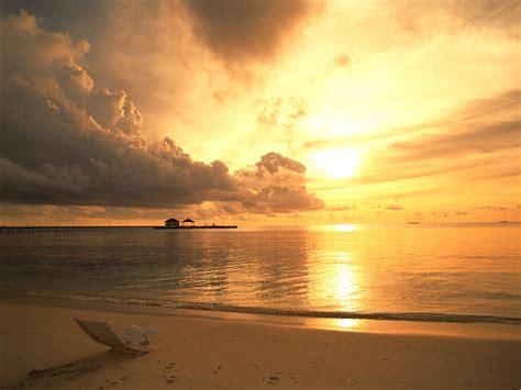 beach sunset wallpaper hd free desktop background