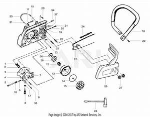 Poulan Pp380 Gas Saw  380 Gas Saw Parts Diagram For Clutch