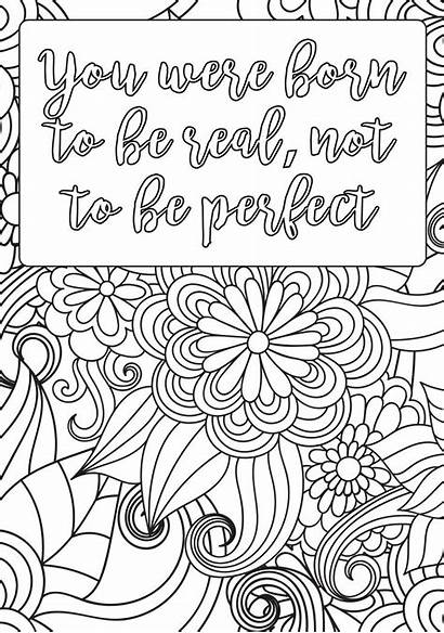 Coloring Pages Printable Mindset Positive Affirmations Sheets