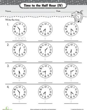 on the half hour telling time with clockwork cat cats
