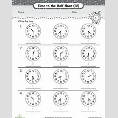 Telling Time, Worksheets And Clock Worksheets On Pinterest