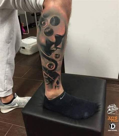 mechanical leg tattoo  tattoo ideas gallery