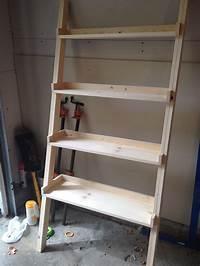 fine diy ladder bookshelf Wood plant: Detail Woodworking plans ladder shelf
