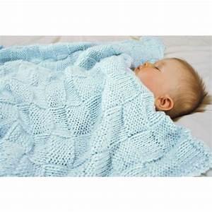 Mary Maxim - Free Baby Basketweave Blanket Knit Pattern