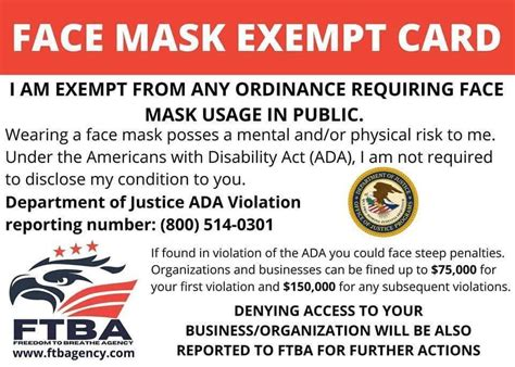 face mask exemption card idviking  scannable fake ids