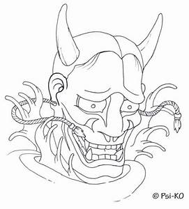Hannya mask google haku inspiration pinterest for Kabuki mask template
