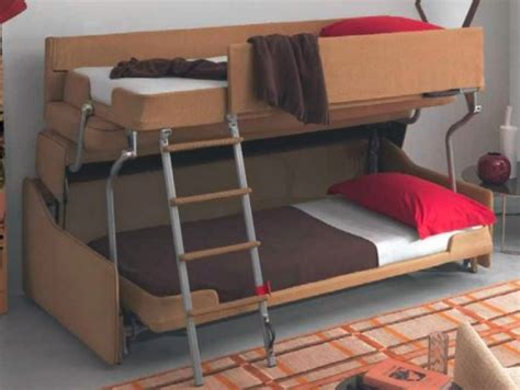 double bunk sofa bed space saving sleepers sofas convert to bunk beds in