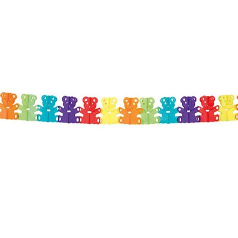guirlande papier crépon guirlande en papier cr 233 pon quot oursons multicolores quot 4 m 224 prix minis sur decoagogo fr